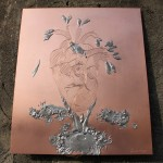 [Vendu – Sold] « Le cœur léger », 37 x 32 cm, 2014.