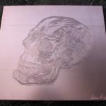 [Vendu – Sold] « Memento Mori », 21 x 23 cm, 2014.