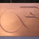 [Commande – Order] Plaque 50 x 70 cm avec gravure d'un logotype « B » pour une entreprise Chablaisienne, 2014.