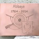 [Commande – Order] Plaquette pour les 250 ans de l'Abbaye d' Ormont-Dessus, ~26 x 30 cm, 2014.
