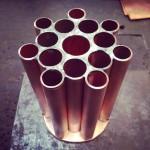 [Commande – Order] Porte pinceaux en tubes de cuivre, 2014.